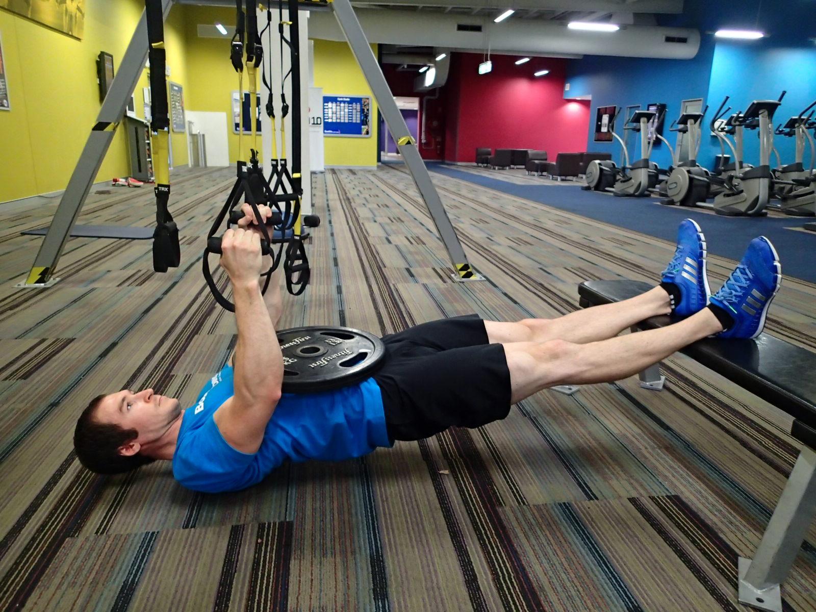 Inverted Row (Suspension Trainer) - Legs Elevated