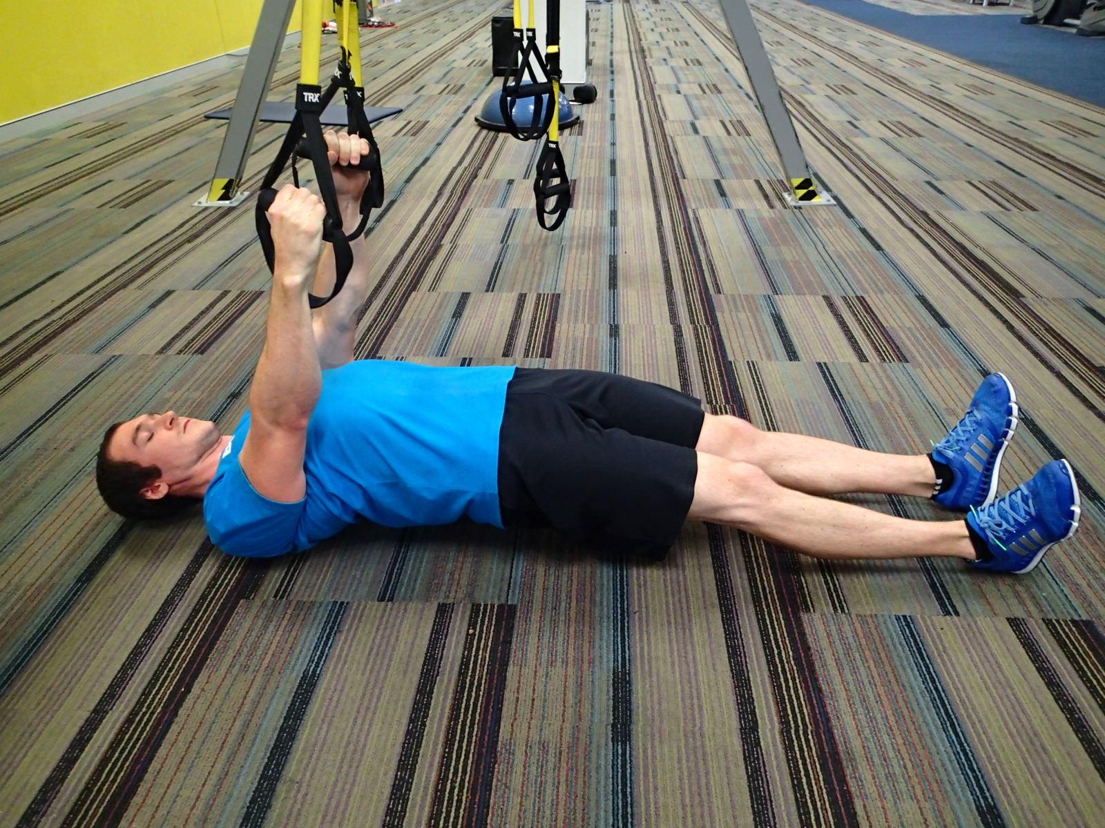 Inverted Row (Suspension Trainer) - legs straight