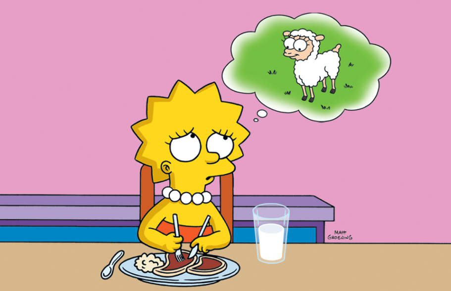 Lisa Simpson - vegetarian