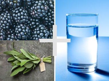Blackberries Sage Refreshing Flavor Tap