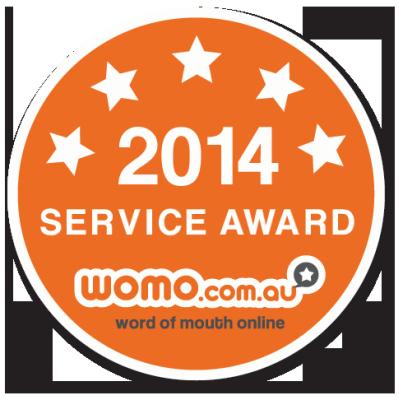 WOMO 2014 Service Award