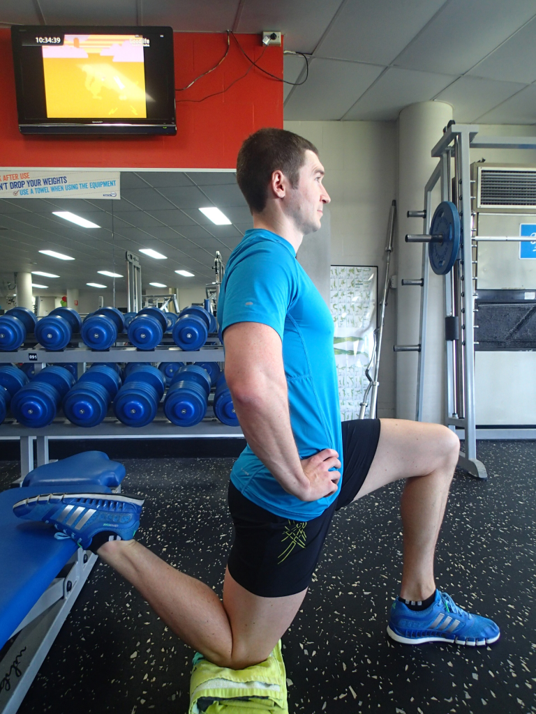 Kneeling Hip Flexor Stretch + tail lift