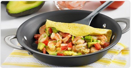 Prawn + Avocado Omelette