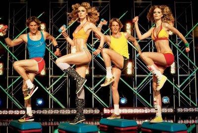 80s aerobics Step Ups