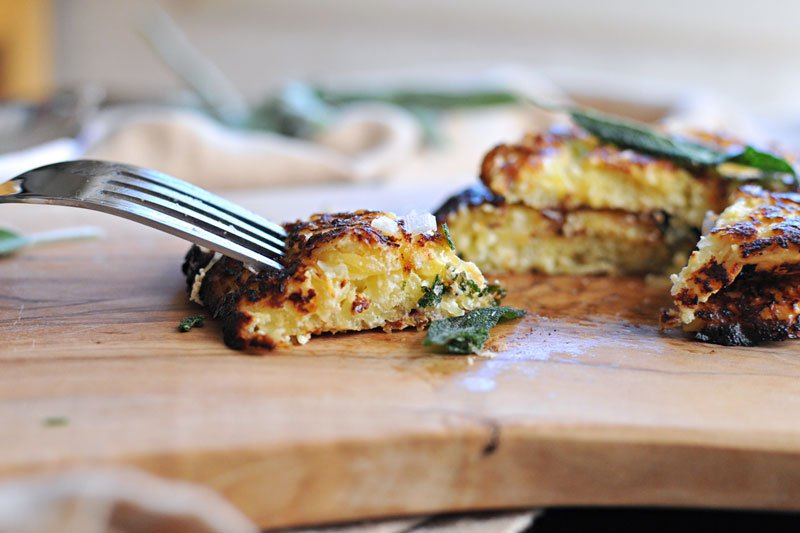 Spaghetti Squash Fritters with Sage