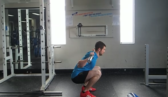 8 - barbell back squat - tuck under